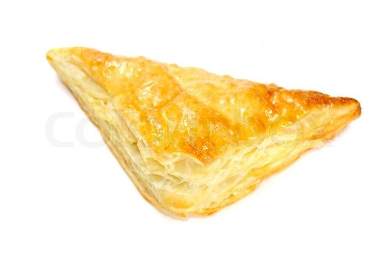 слойка треугольник с курицей