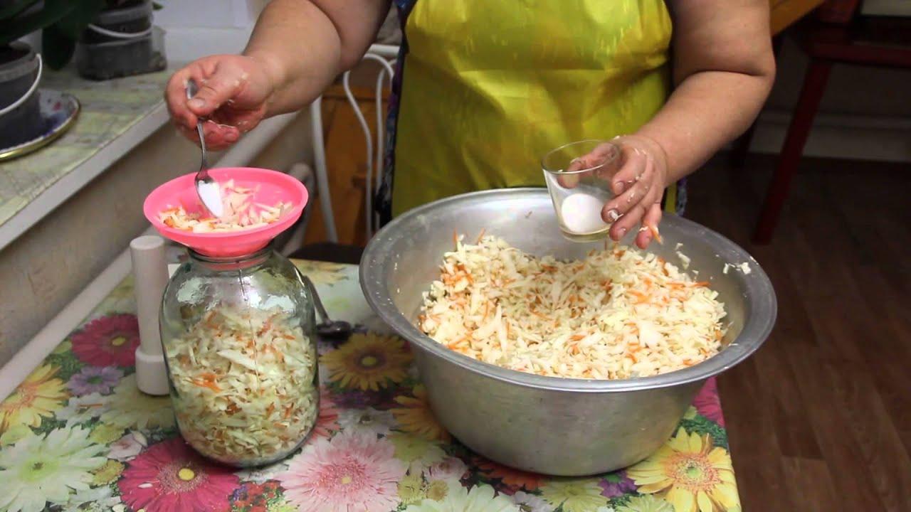 Квашенная капуста бабушкин рецепт