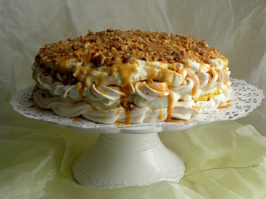 торт из  безе рецепт без выпечки