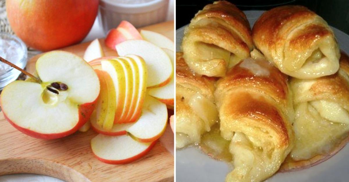 Сахарная ватрушка с яблоками