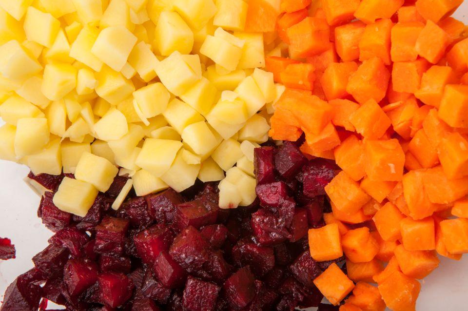 нарезка овощей для винегрета